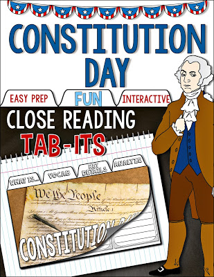 Constitution Day Tab-Its resource