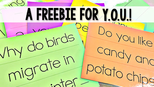 4 Types of Sentences Freebie for newsletter subscribers!
