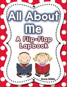 All About Me flip flap lapbook activity