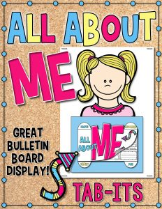 All About Me Tab-Its classroom activity