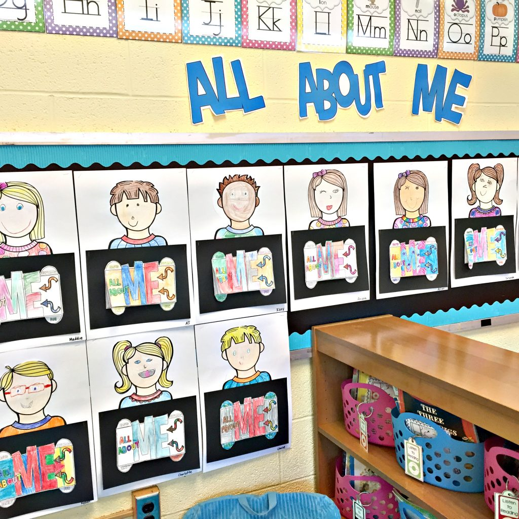 All About Me Tab-Its display wall