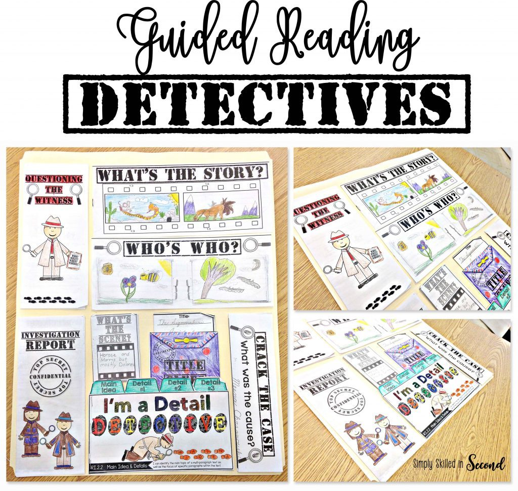 Guided Reading Detectives flip flap book activity