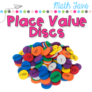 place value discs to helps students with place value