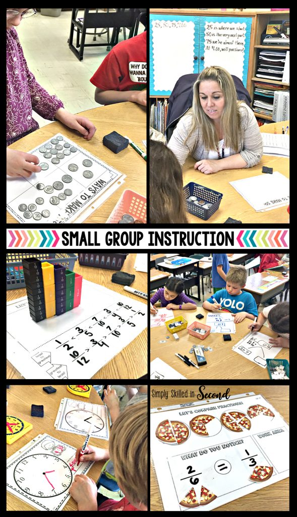 guided math 2nd grade, guided math 3rd grade, small guided math groups, small group math instruction