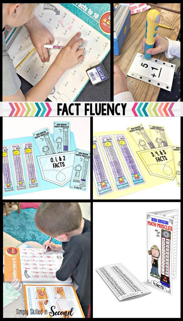 fact fluency, guided math fact fluency, timed fact fluency tests,
