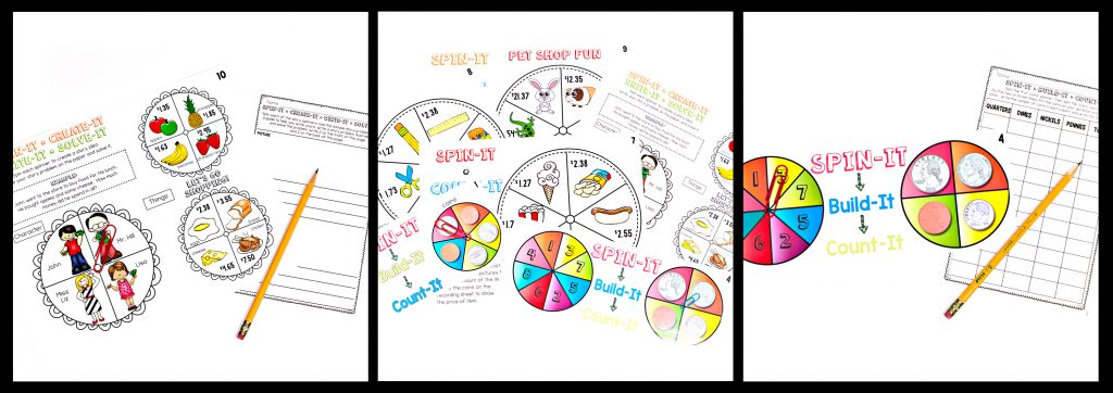 spin-its math stations, math stations, math centers