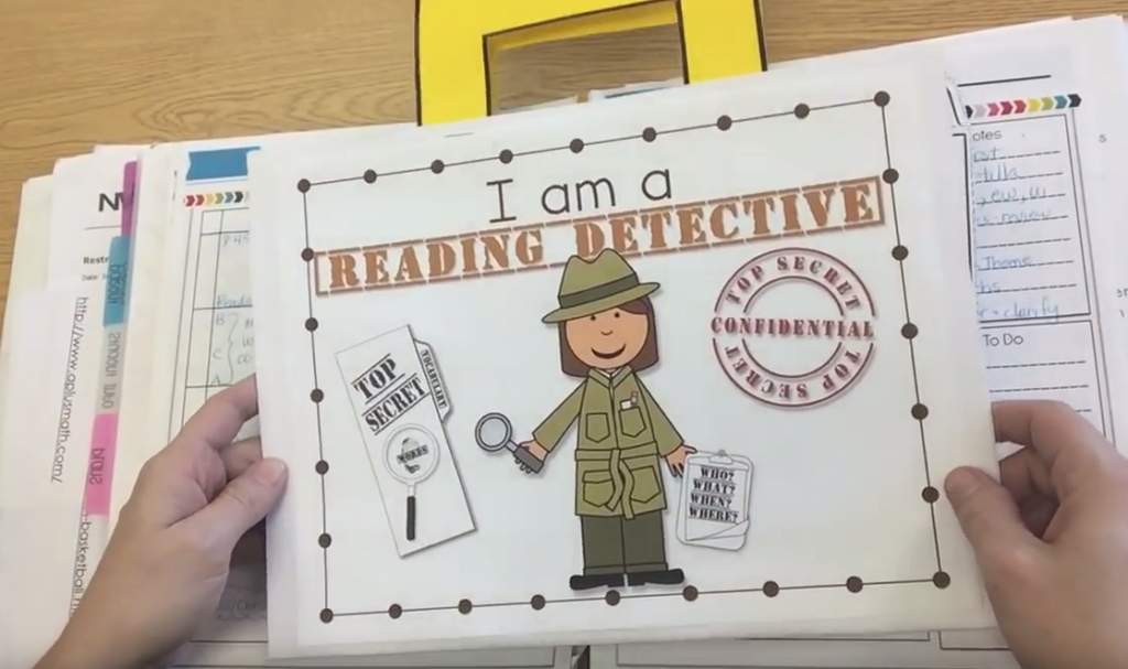 Guided read flip book