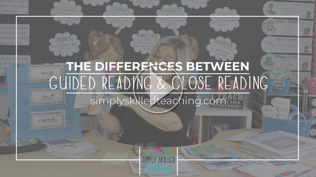 Differences Guided Reading and Close Reading Video