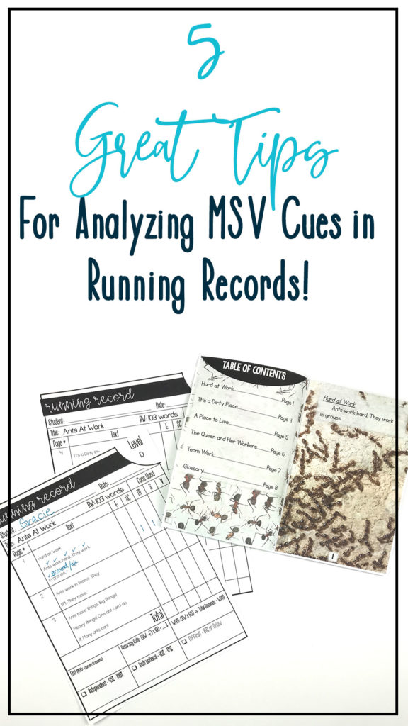 5 tips for analyzing msv cues in running records