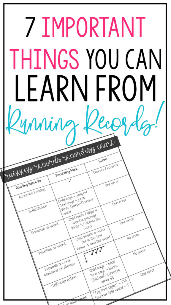 7 important things to learn from running records