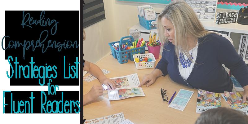 Strategies List for Fluent Readers
