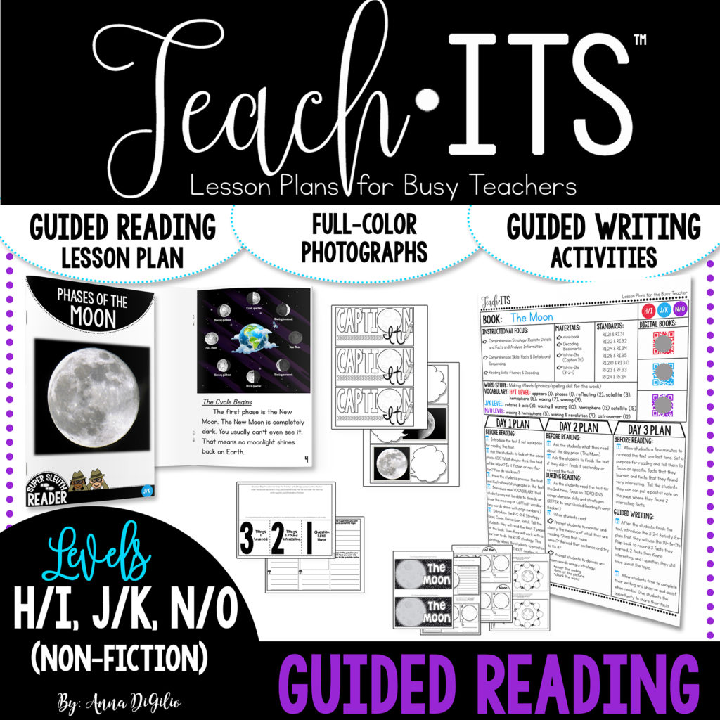 Phases of the moon guided reading cover