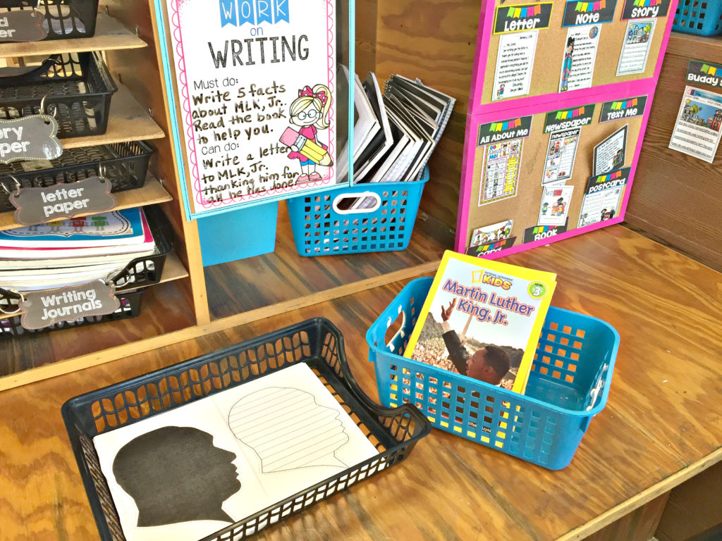 martin luther king jr writing activity